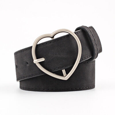 Stylish Ladies Women Heart Buckle Belt Dress Jeans Faux Leather Waistband NEW 7