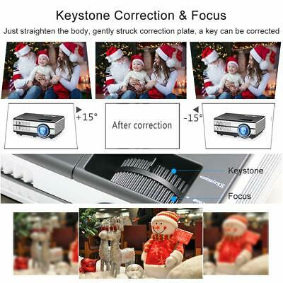 HD Portable Android Mini Wifi Bluetooth Projector LED Home Cinema Kodi HDMI USB 9