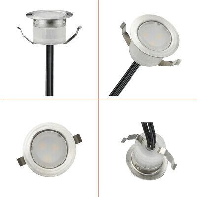 FVTLED 10x Lampe de Spot A LED pour Terrasse Enterre IP67 DC12V Blanc hot 3