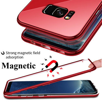 For Samsung Galaxy S7Edge/S10 S9 Plus Note10 360 Magnetic Case TemperGlass Cover 3
