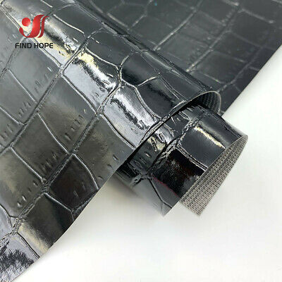 Crocodile Leather Faux Fabric Vinyl Highlight Upholstery Handmade Bag Craft DIY
