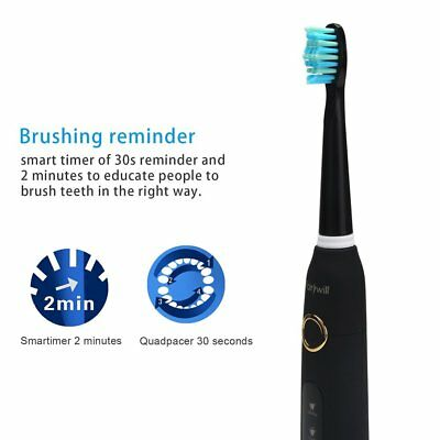 Fairywill 5 Mode Powerful Electric Toothbrush Waterproof 4 Hours USB Fast Charge 9