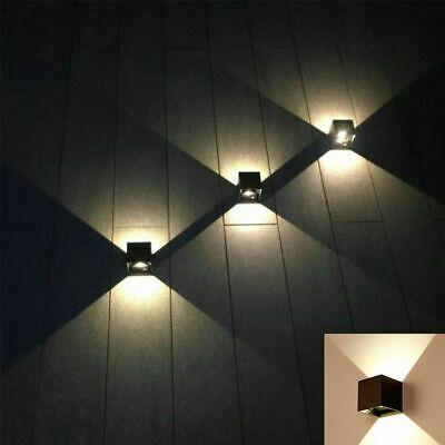 Applique Cubo Led 6W Faro Faretto Lampada Da Parete Muro Doppia Luce Per Esterno 4