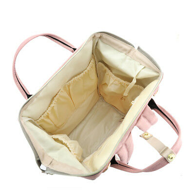 Waterproof Large Mummy Nappy Diaper Bag Baby Fashion Changing Nursing Backpack 11