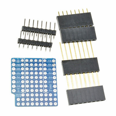 ProtoBoard Shield WeMos D1 Double Sided perf Board Compatible ATF 6