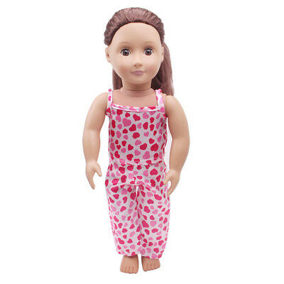 5PCS /Set Clothes Shoes for 18'' American Girl Our Generation Dolls Pajamas UK 5
