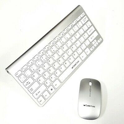 Wireless Mini Keyboard and Mouse for PANASONIC Viera TX-P50G20B SMART TV WT UK