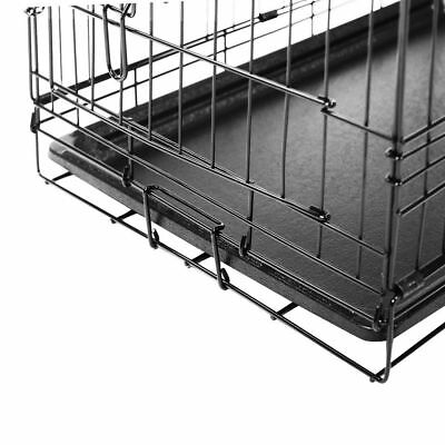 Collapsible Pet Dog Cage Wire Metal Crate Kennel Portable Puppy Cat Rabbit House 8