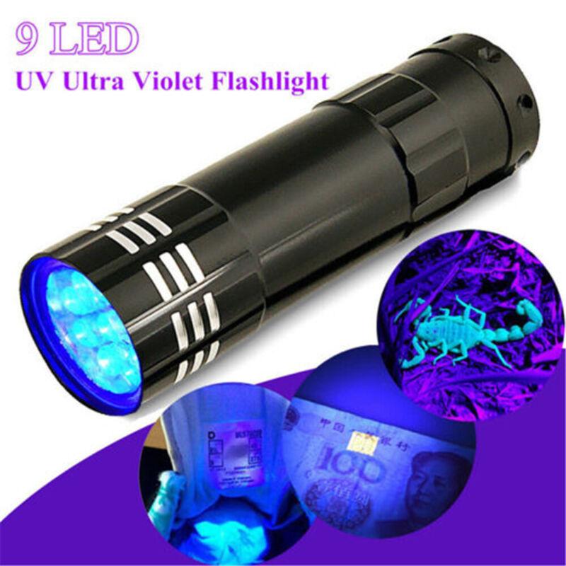 395/365 nM UV Ultra Violet LED Flashlight Blacklight Torch Light Inspection Lamp 3