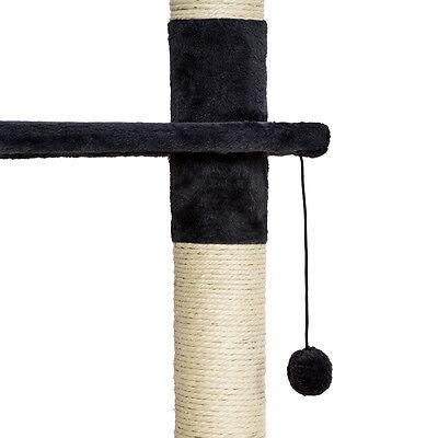 Arbre à chat griffoir grattoir jouet animaux douillet geant peluché noir blanc 6
