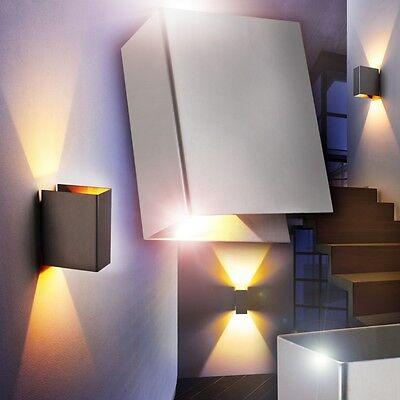 led design wandleuchte flur leuchten chrom wohn zimmer. Black Bedroom Furniture Sets. Home Design Ideas