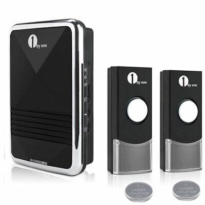 Wireless Doorbell AC Receiver Battery Remote Home Office Digital Door Bell Kit 5