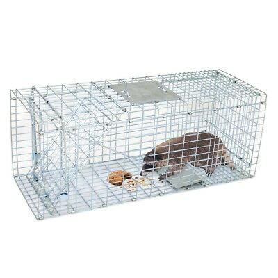32'' Humane Live Animal Trap 1 Door Rodent Cage for Rabbits Cat Raccoon Squirrel 2