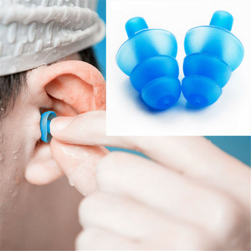 1 pair Silicone Ear Plugs Anti Noise Snore Earplugs Comfortable For Study Sleep