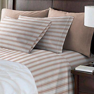 1 Of 12 Hotel Quality Luxury Trey Stripe Deep Pocket Super Soft Bed Sheets Sheet Set