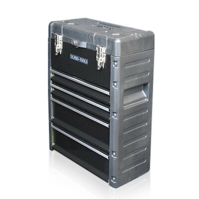 320 US PRO Tools Black Mobile Roller Chest Trolley Cart Storage cabinet Tool Box 6