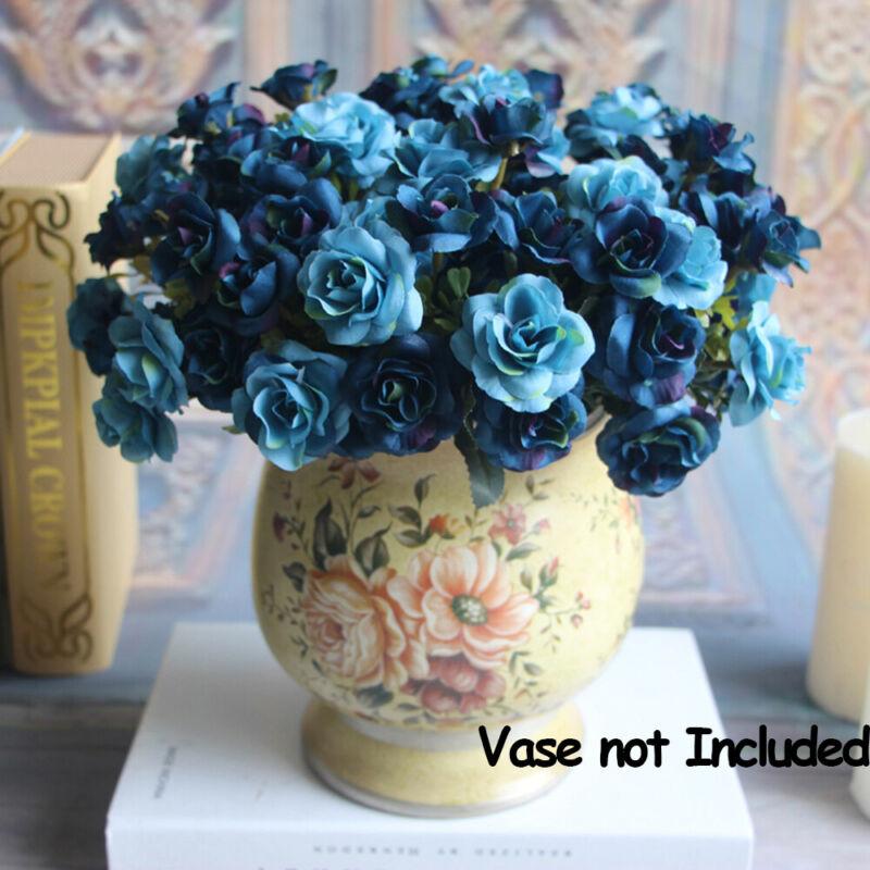 15 Heads/Bunch Artificial Fake Silk Rose Flower Bouquet Home Bridal Party Decor 2