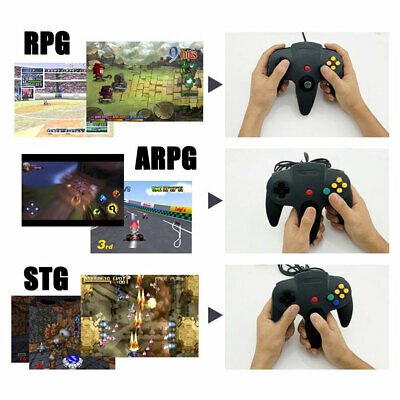 New Nintendo 64 N64 Games Classic Gamepad Controllers For Usb To Pc/Mac 3