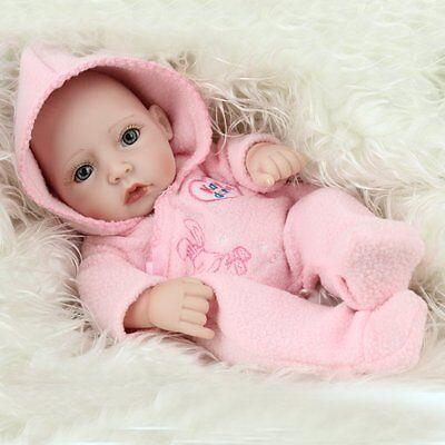 "10""Newborn Real Looking Baby Girl Soft Vinyl Realistic Life Like Reborn Dolls 3"