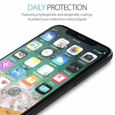 Fits For iPhone Xs Max XR 100% Genuine Clear Tempered Glass Screen Protector 4