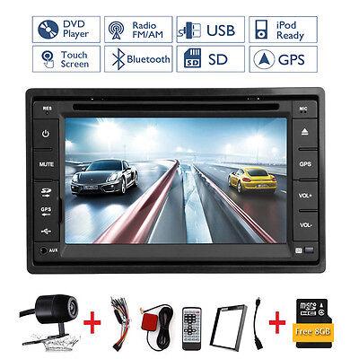 Autoradio Gps Navegación Bluetooth Dvd Usb Sd Mp3 Doble 2 Din Radio De Coche+Cam 4