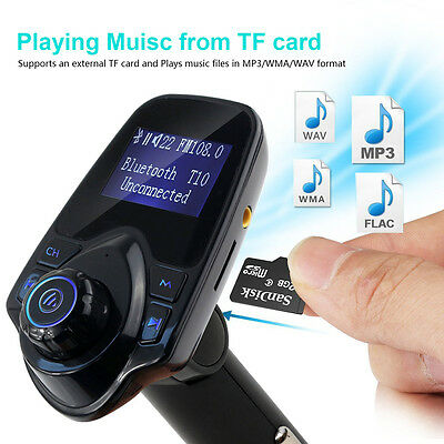Bluetooth Car FM Transmitter Wireless Radio Adapter USB Charger Mp3 Player 3