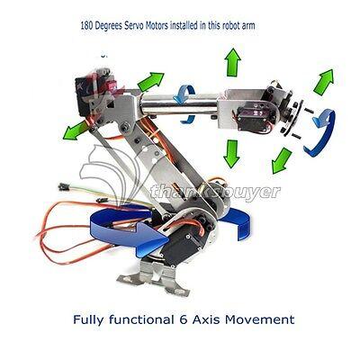6DOF Metal Mechanical Robotic Arm Frame Kit for Robot Smart Car Arduino SCM DIY 2