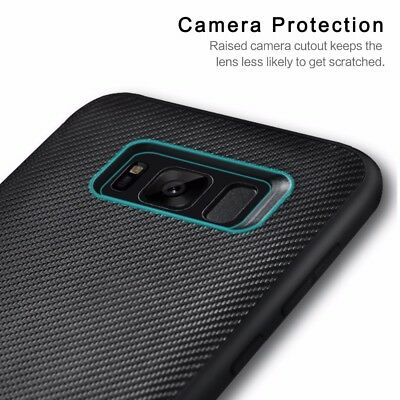 Luxury Carbon Fibre Case Silicone Protective Cover For Samsung Galaxy S6 S7 Edge 4