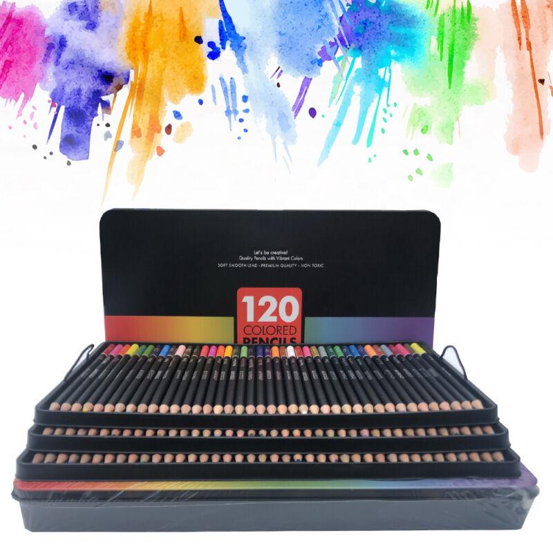 120tlg Aquarell Buntstifte Künstler Etui Bleistifte Aquarellfarbstifte Bleistift 4