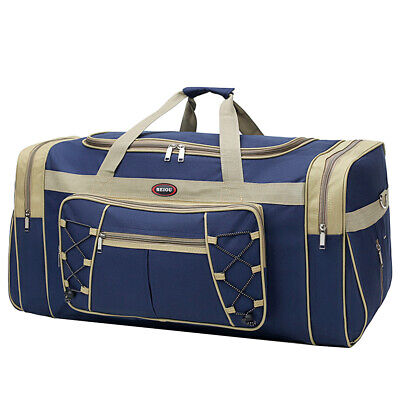 "25"" Men Travel Gym Duffle Bag Sports Waterproof Blue Tote Handbag Overnight New 3"