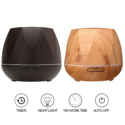 500ml Essential Oil Aroma Diffuser LED Ultrasonic Air Mist Aromatherapy AU Plug 10