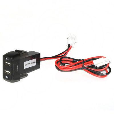 Dashboard Panel Mount Dual Usb Power Socket Charger