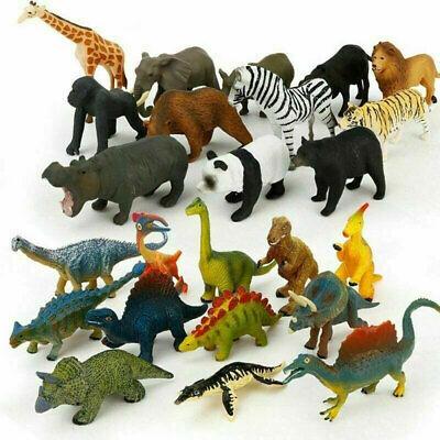 12 Stücke Tierfiguren Mini-Spielzeug Geschenkset Dschungel-Tieren Tierwelt
