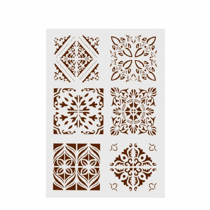 New Plastic Layering Stencils For DIY Scrapbooking Painting Template Paper Cards 4