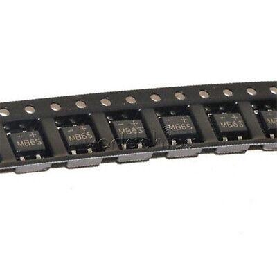 50Pcs MB6S 0.5A 600V Miniature Mini SMD Bridge Rectifier 4