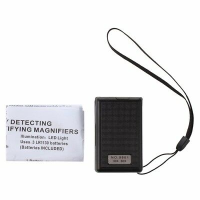 60X/30X Magnifier LED Light Jeweller Eye Magnifying Optical Glass Loupe Antique