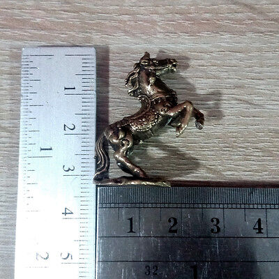 Horse figurine Statue brass Lucky animal Wealth Rich Power Charm DBA