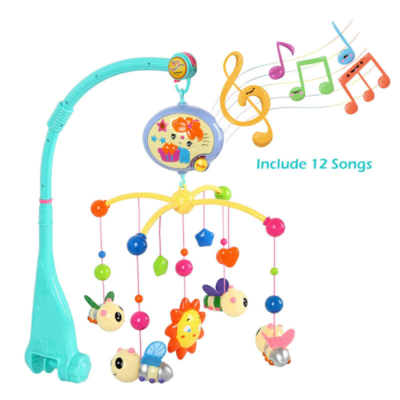 Giostrina Musicale Carillon Mobile Giocattolo per Lettino Culla Neonati Bambini 6