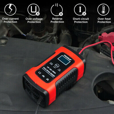Car Battery Charger 12V 5A LCD Intelligent Automobile Motorcycle Pulse Repair UK 8