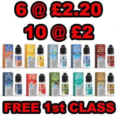 Diamond Mist E Liquid Vape Juice  All Strengths/ Flavours + Nic Salt, 10ml 50/50 2