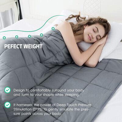 Weighted Blanket Deep Relax Sleeping Gravity for Adult Men Women Kid 9/7/5/11KG 3