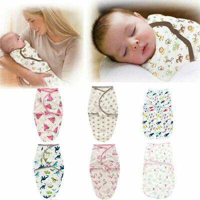 0-6 Months Pure Cotton NewBorn Baby Boy/Girl Swaddle Blanket Wrap Sleeping Bag 2