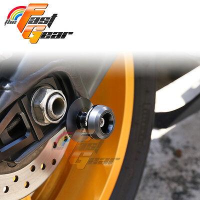 Twall Protector Black  Swingarm Spools SlidersFit Kawasaki ZX-6R 636 2013-2015
