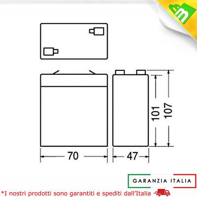 Batteria 6V 4,5 Ah - Compatibile Peg Perego - Biemme 2