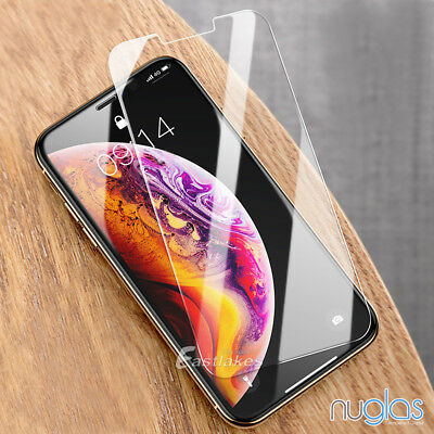 2x Apple iPhone X XS Max XR GENUINE NUGLAS Tempered Glass Screen Protector Film 10