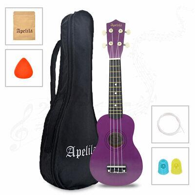 21 inch Soprano Ukulele Apelila Acoustic Mini Guitar Music Instrument + Gig Bag 11