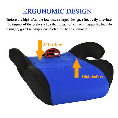 Car Booster Seat Chair Cushion Pad For Toddler Children Kids Sturdy 3-12 Years 7