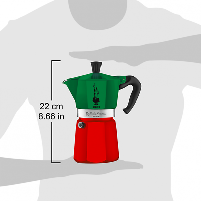 BIALETTI | Moka Express Tricolore 6 Tazze | Limited Edition Made in Italy 3