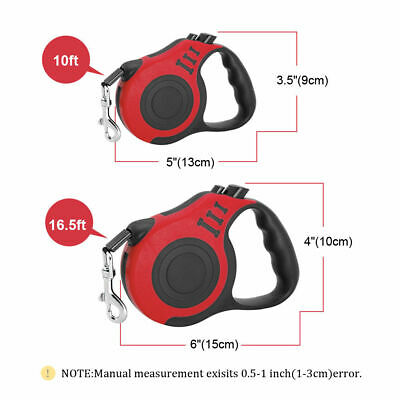 16ft Automatic Retractable Dog Leash Pet Collar Automatic Walking Lead FreeLeash 5