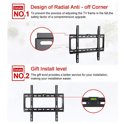 "TV Wall Mount Bracket Tilt Swivel Flat Slim Plasma LCD LED 14-70"" inch Universal 7"